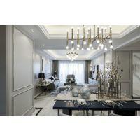 120㎡法式风格家居装修设计案例,精致美宅丨合肥方林装饰