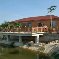江苏景观仿木栏杆多少钱一米 园林景区河边水泥仿木桩