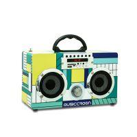 Musiccrown爆款创意礼品便携式木质mini手提多功能蓝牙音箱 FM音箱 定制logo