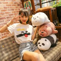 三只熊毛绒玩具白裸熊猫趴站泰迪熊公仔玩偶抱枕儿童玩具厂家特价