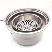大号碳烤炉韩式上排烟烧烤炉多人用圆形碳烤肉炉商用韩国炭火烤肉