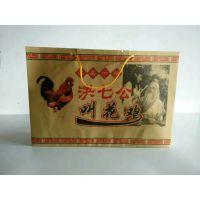 现货供应洪七公叫花鸡手提纸袋 叫花鸡食品包装袋 定做烤鸡纸袋