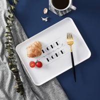 塑料盘子长方形家用北欧个性简约面包早餐盘杯子盘酒店茶盘小托盘