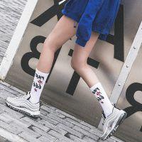 666欧美街头潮袜男女高筒袜原宿运动长袜子全棉潮牌字母情侣袜子