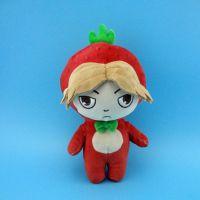 动漫毛绒玩具 草莓人偶公仔加LOGO来图打样厂家定制