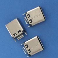 USB 3.1 12P 24P 夹板 0.8 1.0 母座 外露9.3 10.5 黑胶 两固定脚