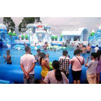 广场上移动水乐园产品厂家 郑州卧龙充气水乐园设备直销