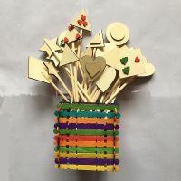 厂家直销婚庆装饰插牌 魔法棒 生日蛋糕插牌 儿童DIY装饰木片