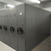 文件资料存储密集柜 手摇移动密集架 钢制档案柜 医院病例密集架