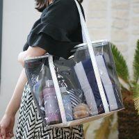 供应韩版手提透明化妆包女洗漱收纳袋PVC大容量防水便携洗浴包袋