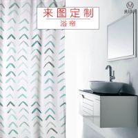 创意个性定制涤纶浴室浴帘 热转印广告促销礼品来图定做印花隔帘