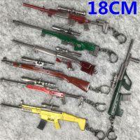 绝地求生大逃杀 AWM AKM98k抢武器模型挂件钥匙扣吃鸡游戏18CM B