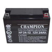 冠军蓄电池NP24-12(志成冠军)12V24AH 免维护蓄电池