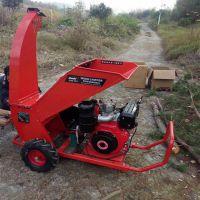 园林树木碎枝机树枝树叶粉碎机汽油碎木机秸秆枝条粉碎机械
