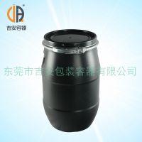 30L升塑料化工桶 30kg公斤包装桶 铁箍黑色圆桶 厂家直销