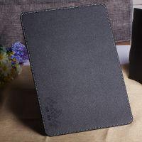 定做黑色长方形荔枝纹皮革办公鼠标垫 pu公关商务礼品鼠标垫