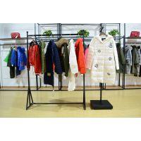品牌女装折扣货源斐戈18年冬装新款羽绒服大衣