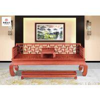 红木罗汉床-红木家具-实木古典中式床-