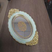 厂家生产镜面托盘酒店软装饰品 室内餐桌摆件家居礼品树脂摆台
