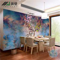 北欧式客厅电视背景墙壁纸唯美麋鹿影视墙布卧室餐厅壁画艺术墙纸