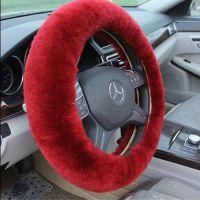 汽车把套方向盘套羊毛把套皮毛一体把套真皮把套羊剪绒汽车把套