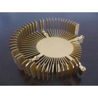 铝合金太阳花机加工金色阳极氧化加工