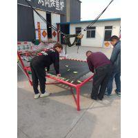 2019儿童床弹簧绳蹦极床 景区设施蹦极蹦床 4米高钢管加厚方形蹦极蹦床