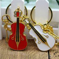 珠宝吉他u盘金属烤漆小提琴u盘创意礼品定制16g32g内存u盘音乐学院开学礼品定制