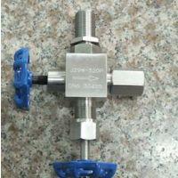 不锈钢压力仪表针型阀 J29W/H-160/320P不锈钢三通仪表针型阀