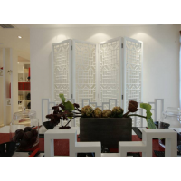 专业通花定制客厅装饰多功能折叠屏风隔断镂空板