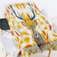 2018热款鹿头 英文字母创意家用茶几垫布圆桌布 防水防油 批发