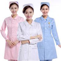厂家直销医院护士服 小圆领白大褂长短袖冬夏季医用工作服 印绣字