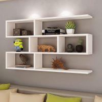 墙上装饰置物架打孔创意格子隔板卧室墙壁书架挂墙壁挂现代简约