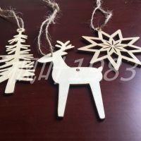圣诞节挂件 创意镂空雪花树 冷杉树 糜鹿节日摆饰 DIY 厂家批发