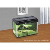 厂家批发美鱼旺QC型桌面迷你弧形热弯玻璃鱼缸柜式热带鱼小水族箱