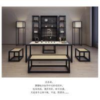 中式品牌坚派家具茶桌椅组合铝合金茶几茶道桌子泡茶桌茶艺桌功夫茶桌茶台桌椅