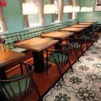 香港茶餐厅防火板餐桌椅子卡座深圳精艺美港式家具订制