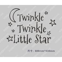 twinkle stars亚马逊 速卖通热销款英文墙贴 厂家直供出货快A1024