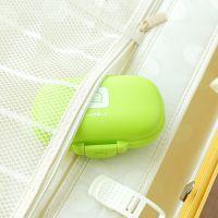 2124便携密封香皂盒 肥皂盒 防水密封卡扣香皂盒旅行 手工皂皂盒