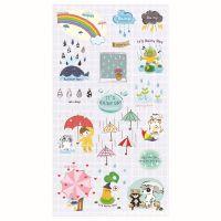 韩国FUNNY手机贴纸日记纸质贴纸雨天TB-008