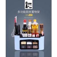 济南现货供应多功能厨房收纳置物架 塑料收纳箱