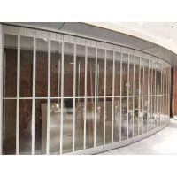 上海高档水晶折叠门价格 手动PVC水晶折叠门厂
