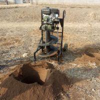 四冲程汽油动力挖坑机 启航农用手提式种树机 果园施肥挖穴机