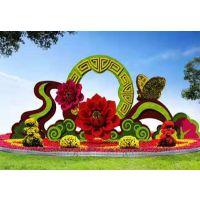 猫头鹰飞翔植物雕塑造型 仿真绿雕造型定制 雕塑造型厂家