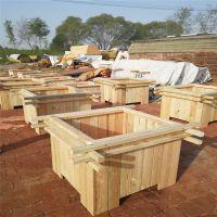 石家庄户外绿化种植木质花盆——河北防腐木花箱厂家