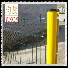 厂家直销小区围栏桃形立柱护栏网/三角折弯铁丝桃形立柱护栏网