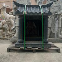 定制加工石雕土地公庙神像佛龛寺庙大树下摆件摆设加工定制