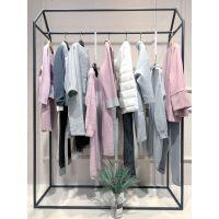 谷可品牌服装网店货源折扣 品牌女装代理店尾货粉色衬衫