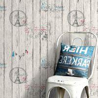 复古仿木纹自粘防水墙纸墙贴卧室大学生宿舍壁纸衣柜家具翻新贴