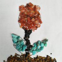 天然彩色水晶玛瑙碎石 DIY串珠饰品材料 不规则玉石碎玉